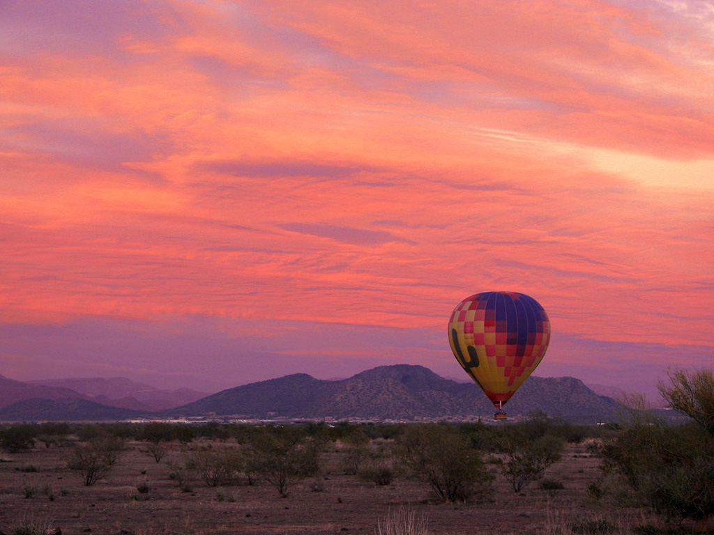 Hot Air Balloons Sunset